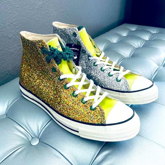 Converse JW Anderson All-Star Glitter Gold Silver
